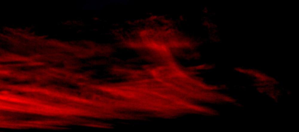 le ciel est en feu...