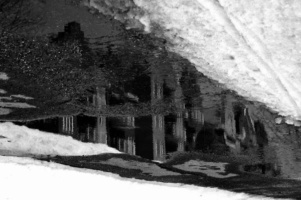 reflet dans le noir