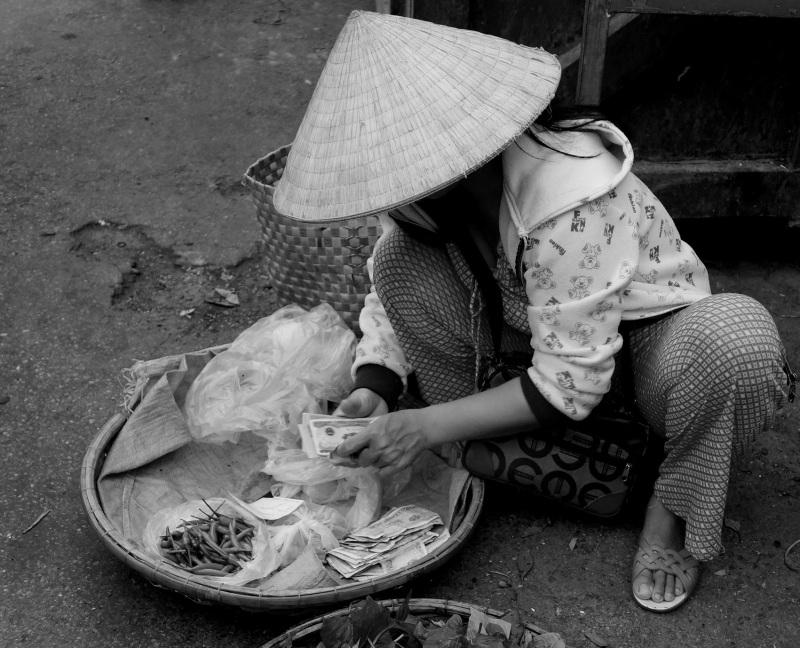 visages du Vietnam: un tout petit commerce