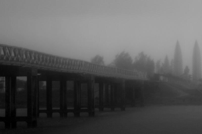danger:  brouillard sur le pont