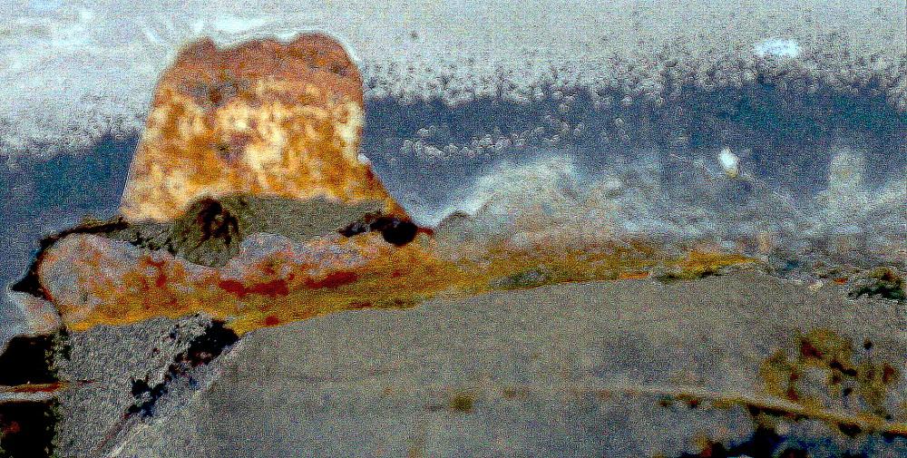 vagues sur les rochers