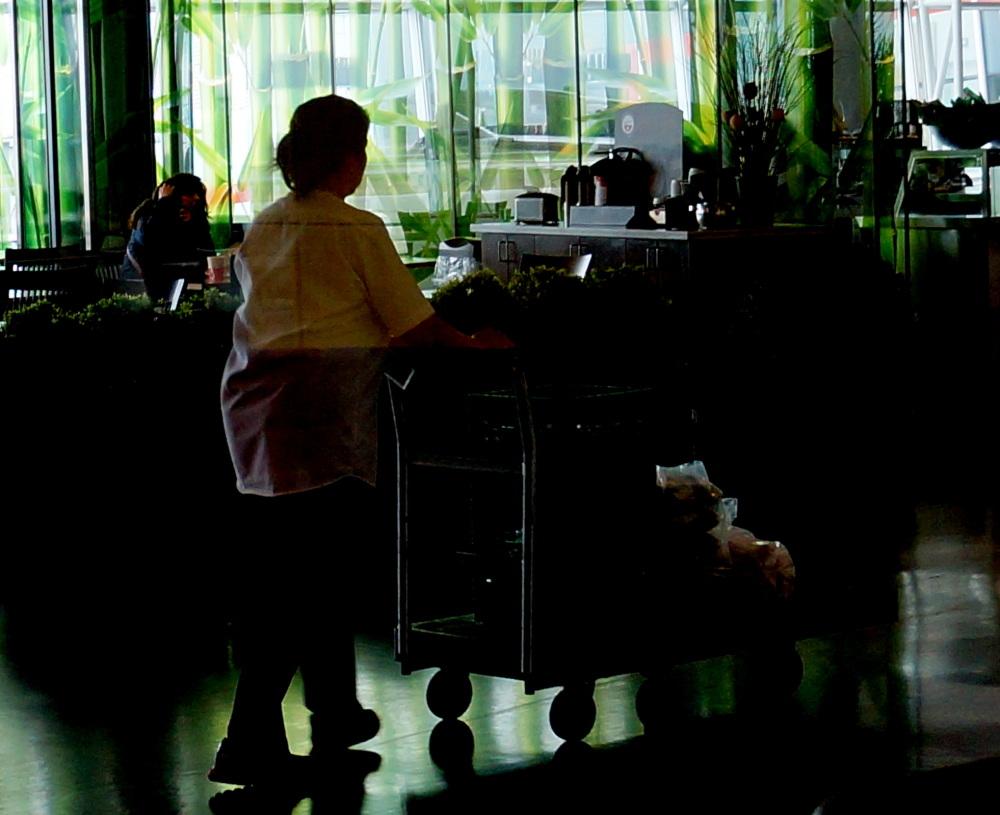 à l'aéroport de Shanghai