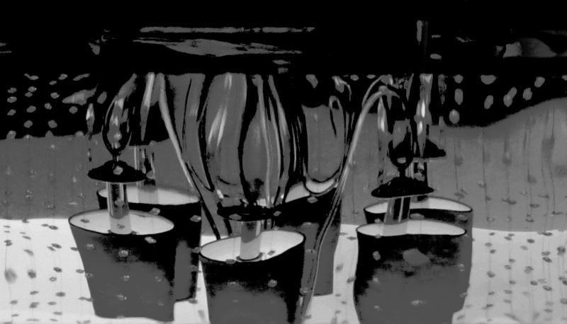 distorsion en noir et blanc