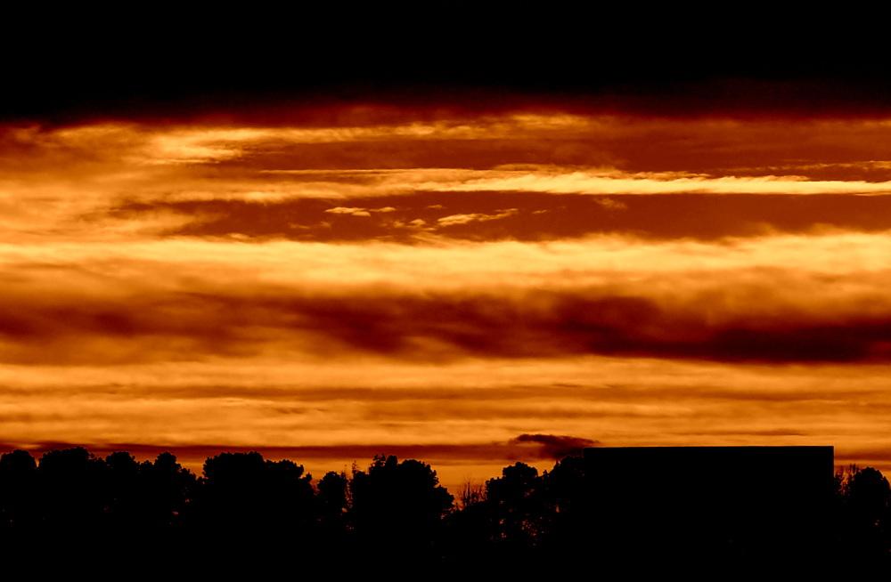 coucher de soleil par couches