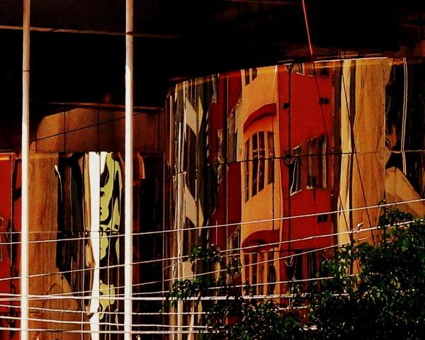 reflet d'une rue