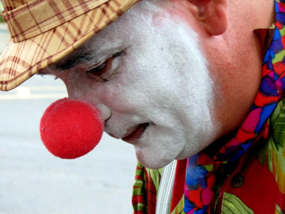 le clown est triste