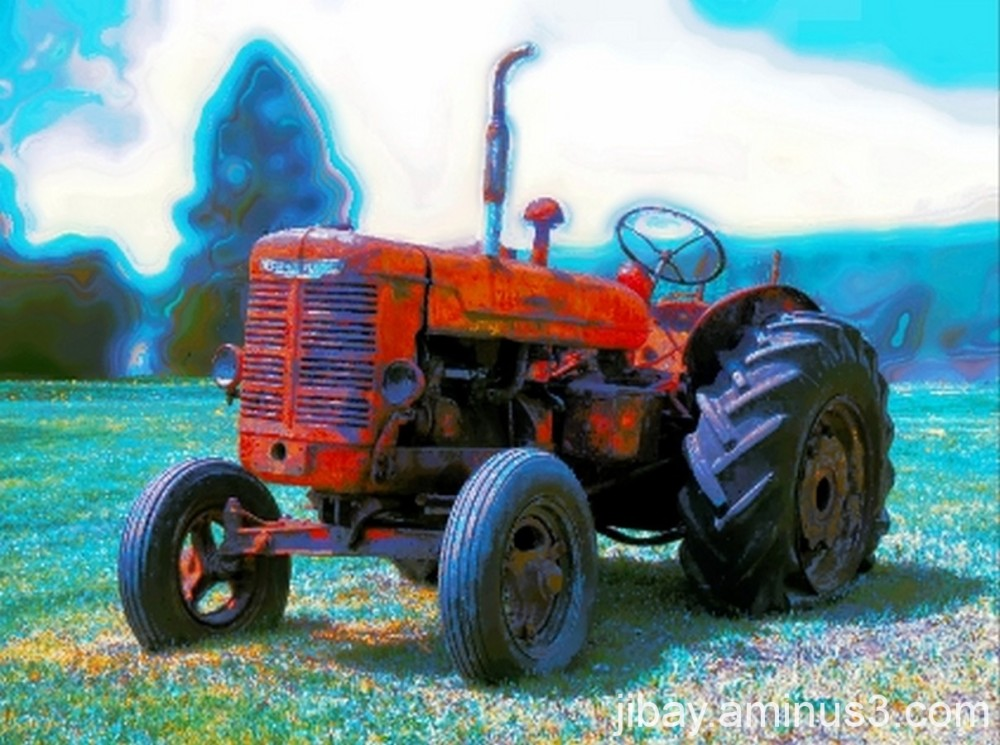 Red old tractor