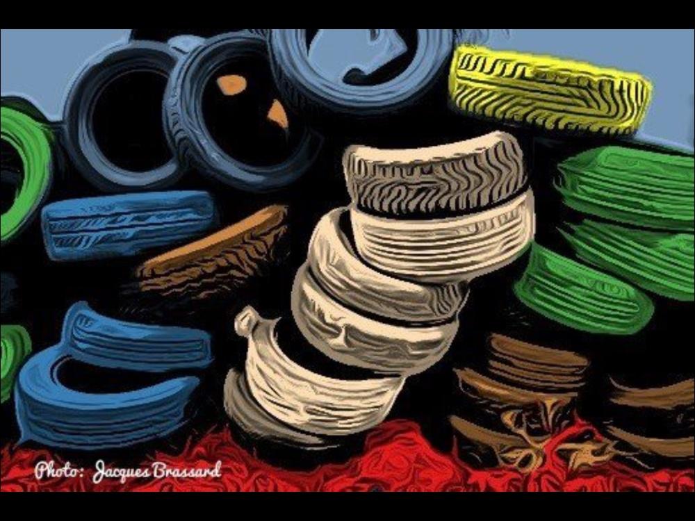 Montagne de pneus