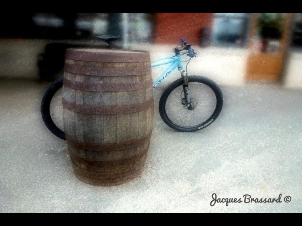 Baril et vélo