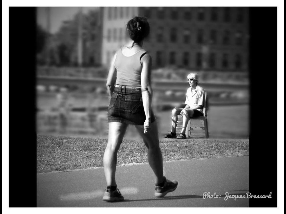 Marche dans un parc