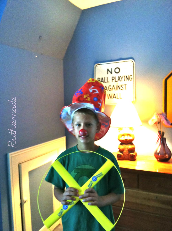 silly clown portrait color