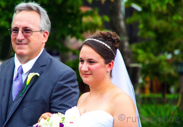 Daddy and bride