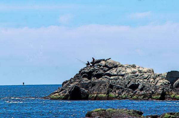 Big rock in water