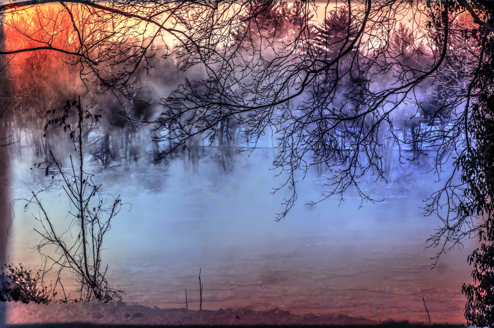 Sunrise Fog on River