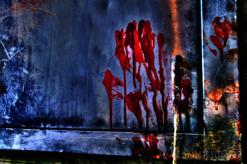 Pennhurst Bloody handprint