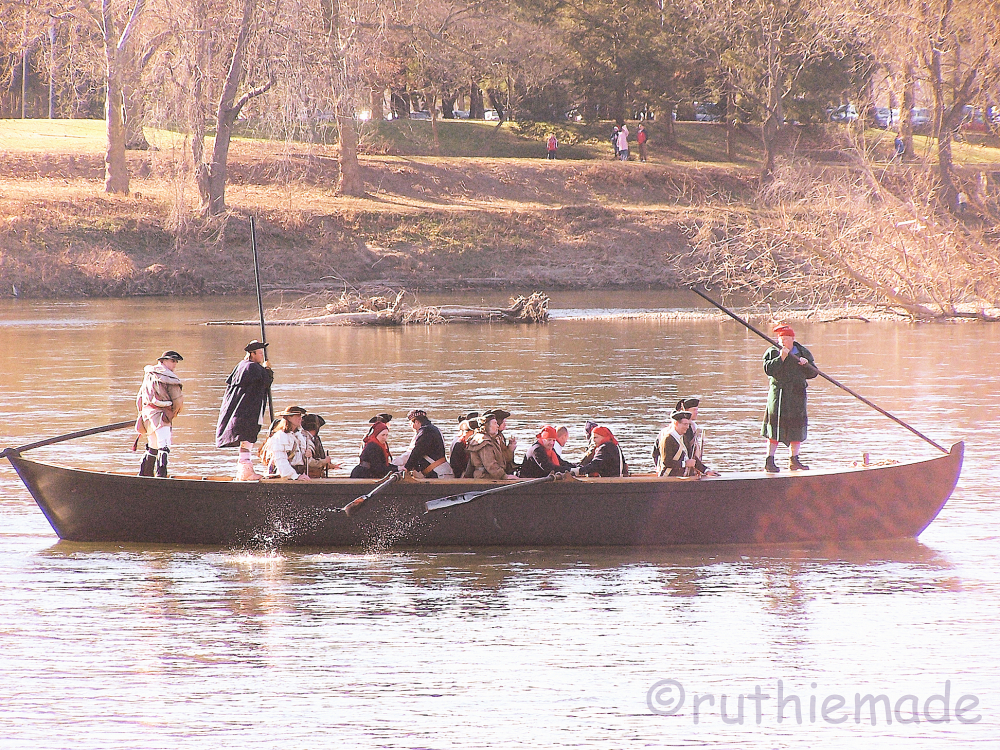 Washington's Troops Crossing the Delaware