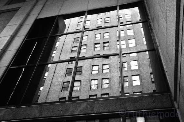 B&W NYC Reflection