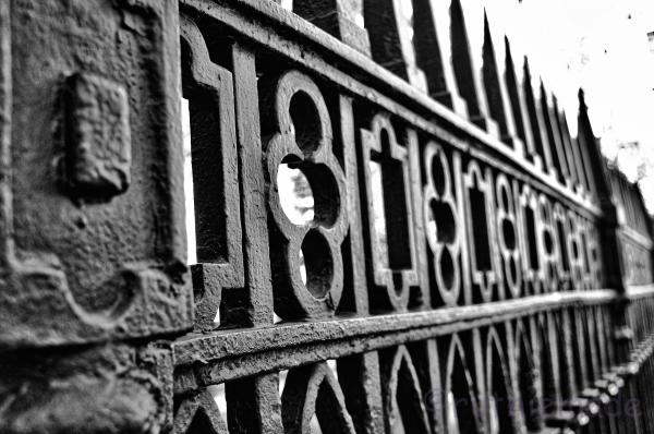 B&W NYC Fence