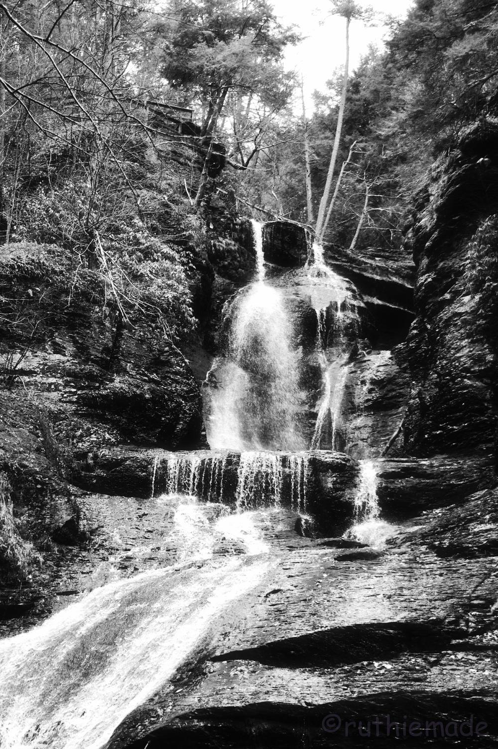 B&W Bushkill Falls