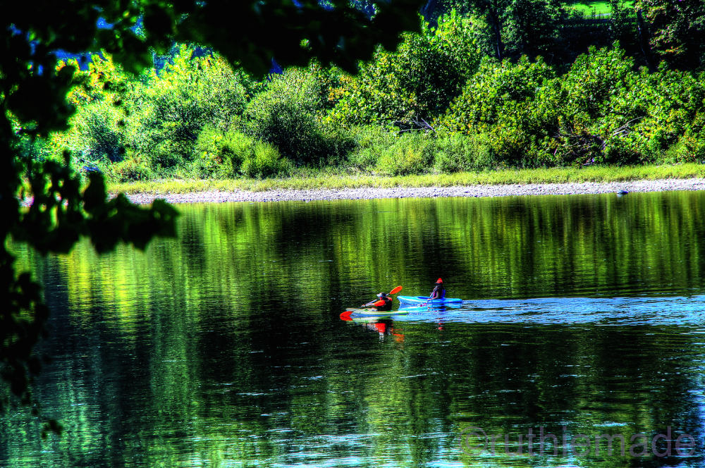 Kayaking on River