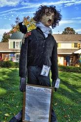 Edgar Allen Poe and Raven Scarecrow