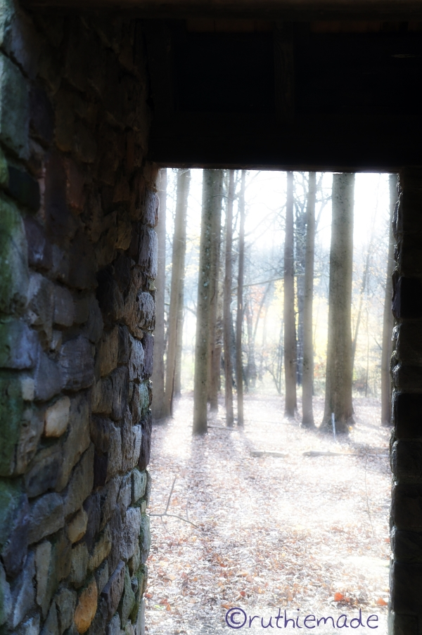 View through doorway