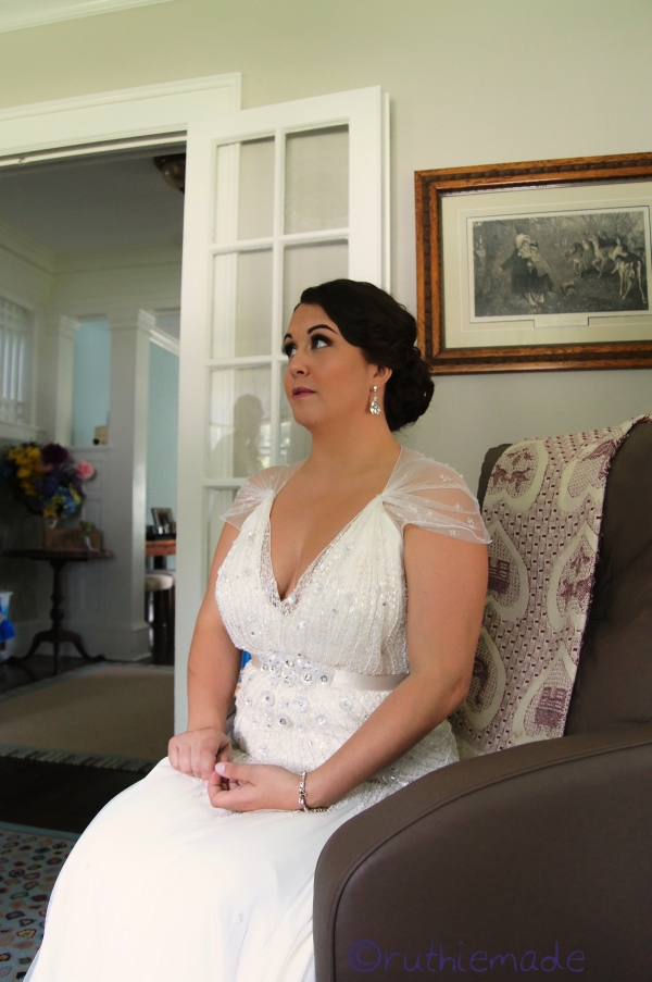 A Quiet Moment for the Bride