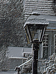 Etched Lamp Post