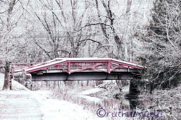 Canal Bridge in Winter