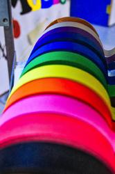 Rainbow of tape