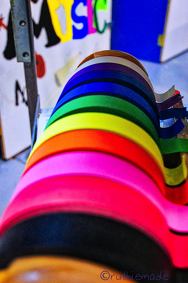 Rainbow of tape