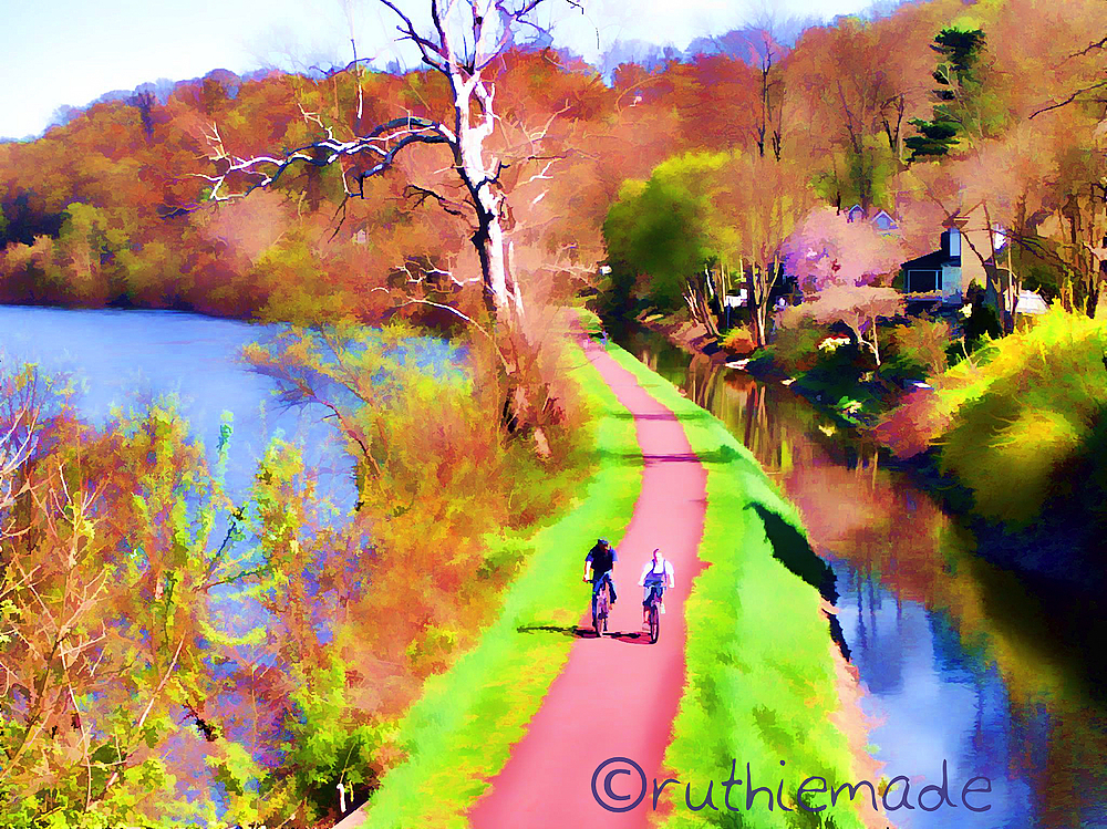 Painterly Canal Path