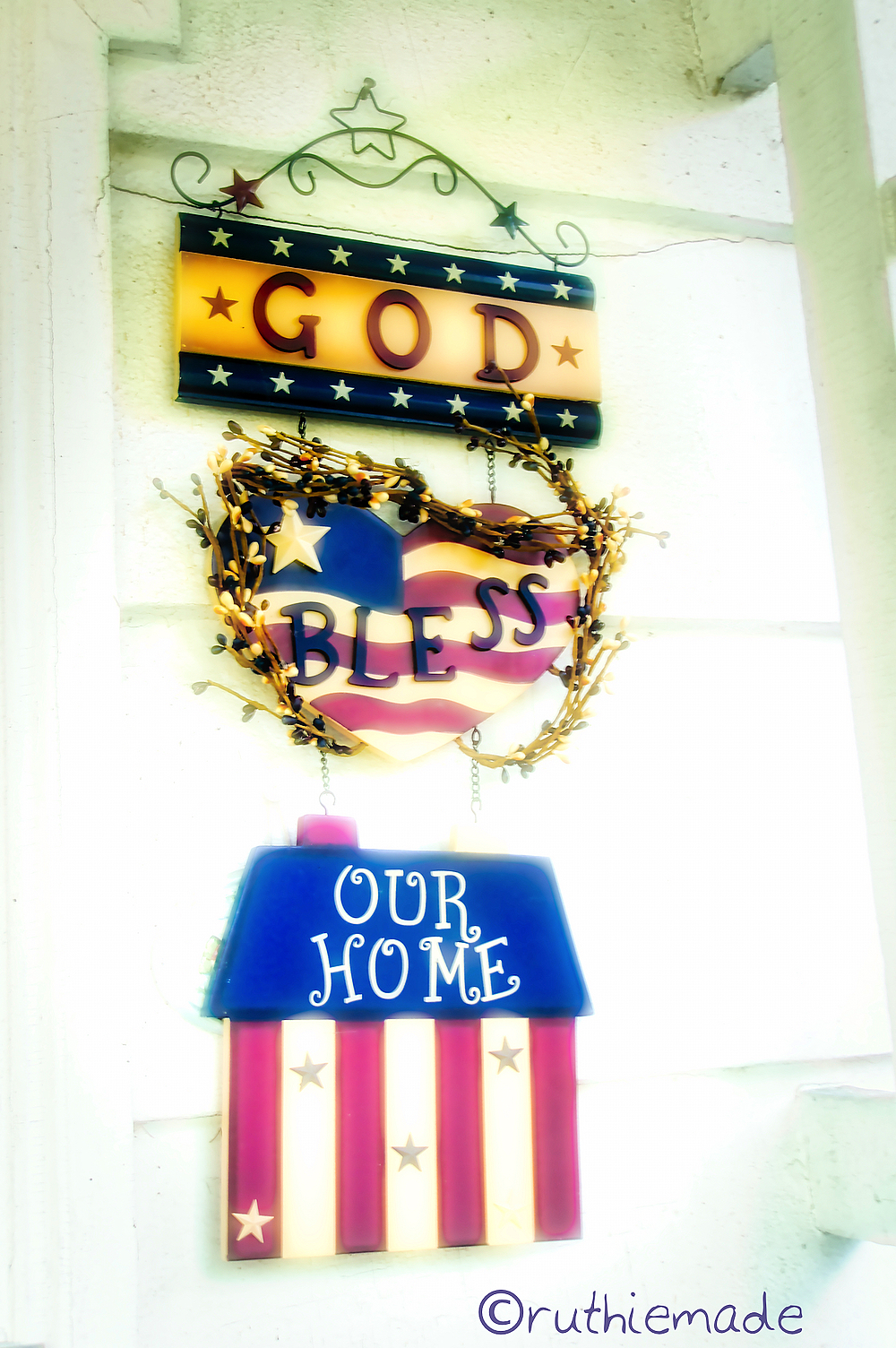 Patriotic House Sign