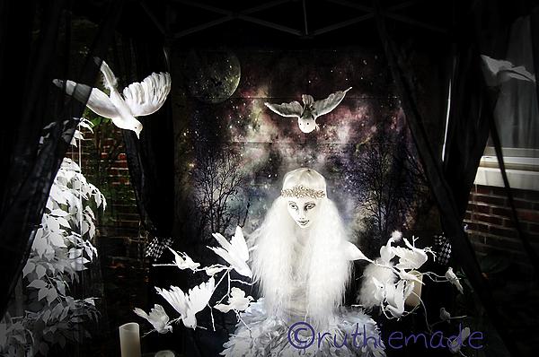 Halloween Dove Lady