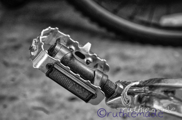 Life in B&W Bicycle Pedal