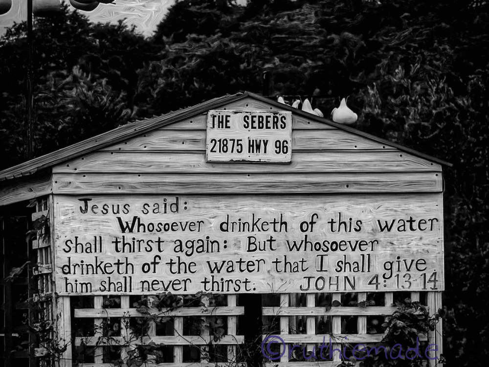 Life in B&W Never thirst