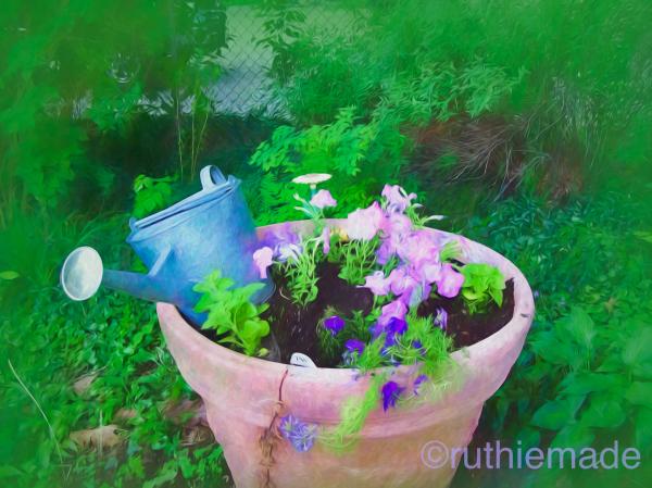Artsy Garden Pot