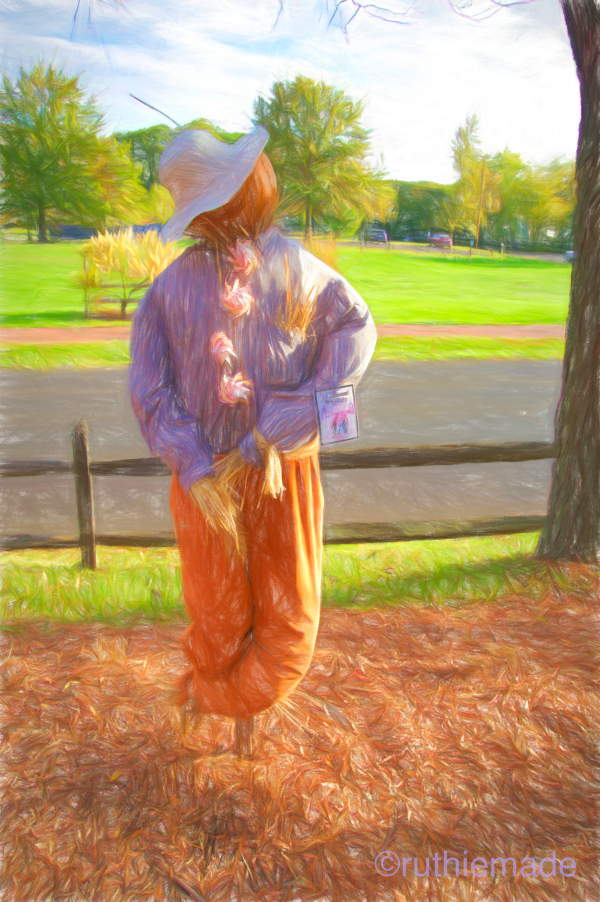 Scarecrow in Warm Light