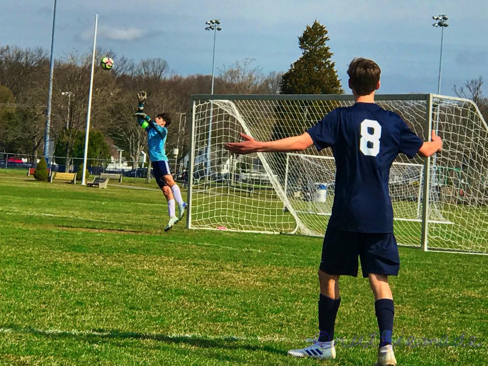 Grandson Goalie Action