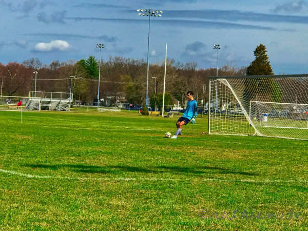 Grandson on SOccer Field