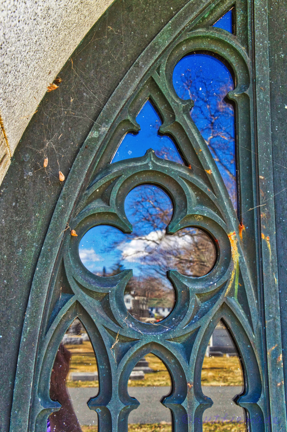Church Window Reflection