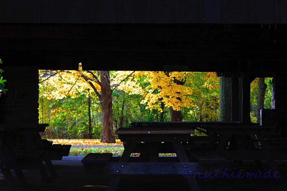 View through Pavilion
