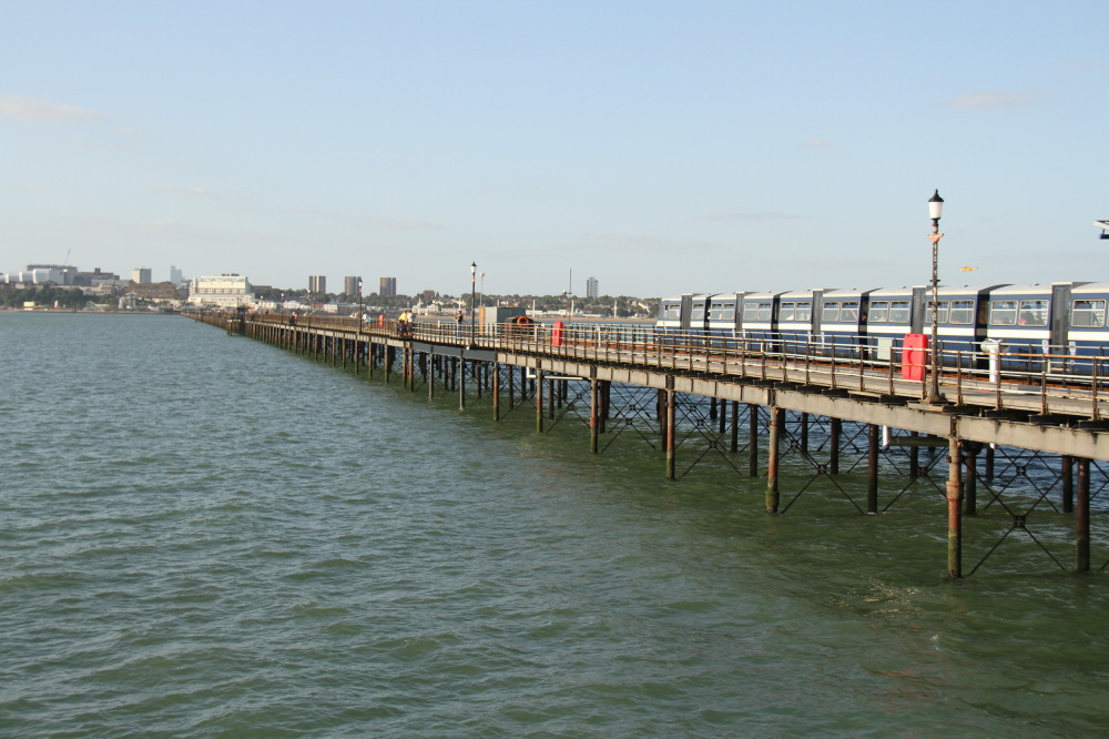 Train to  pier of Southend on sea in uk