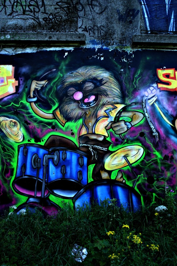 tag, fresque, bomber, flics, animal,muppets