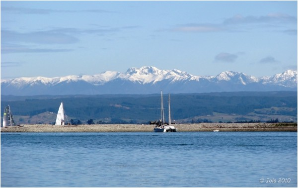 mountain ocean water nautical