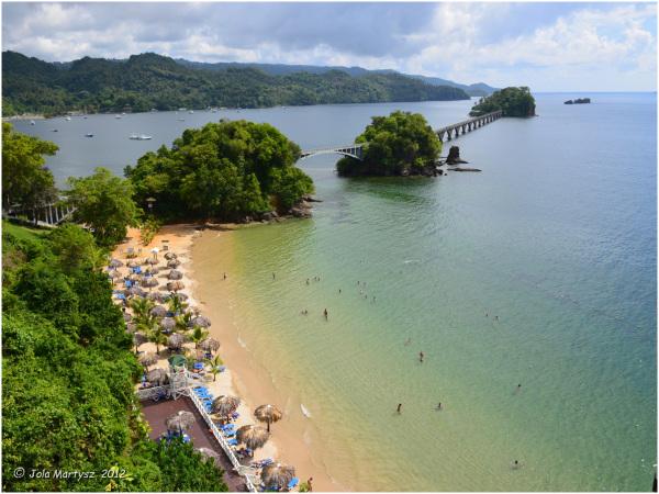 Dominican republic samana travel bay view tropic