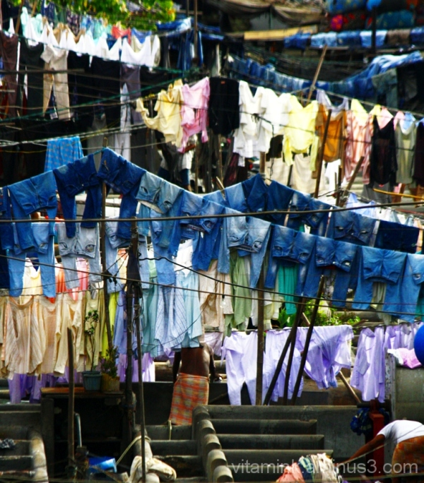 It's all in the jeans (open air laundry)