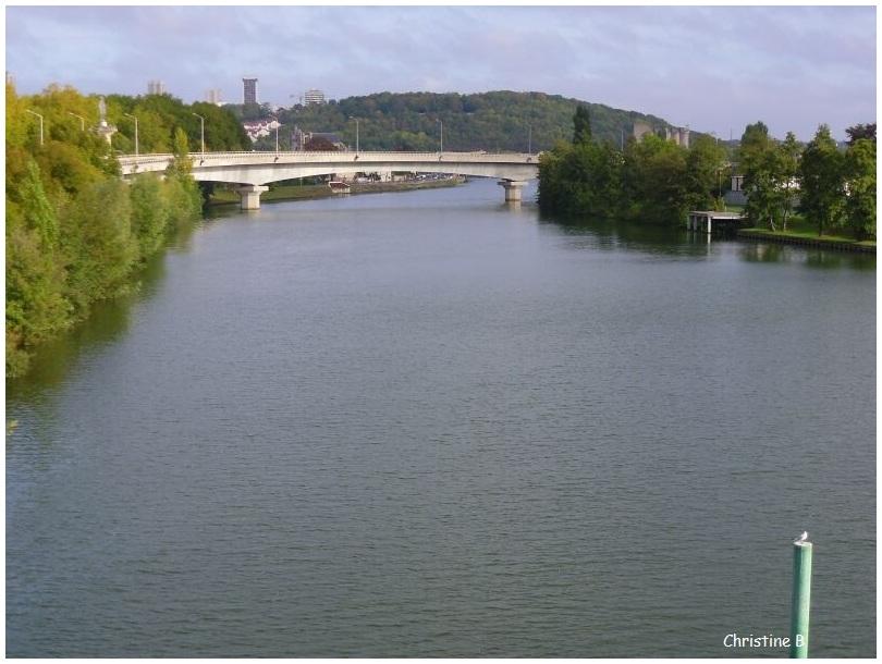 l'Yonne et le pont Georges Pompidou
