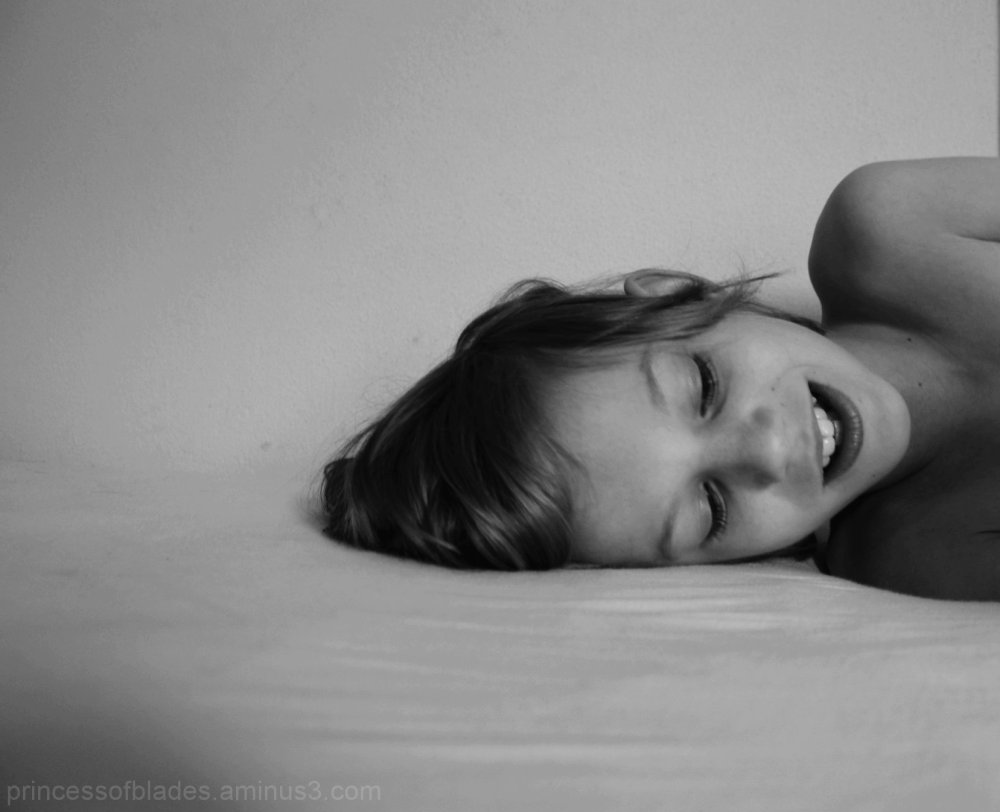 Morning fun child photography portrait black white