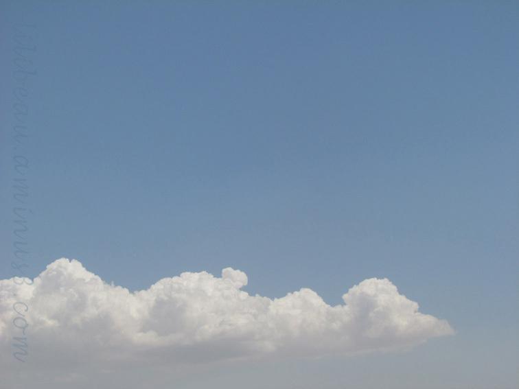 Le ciel heureux d'été